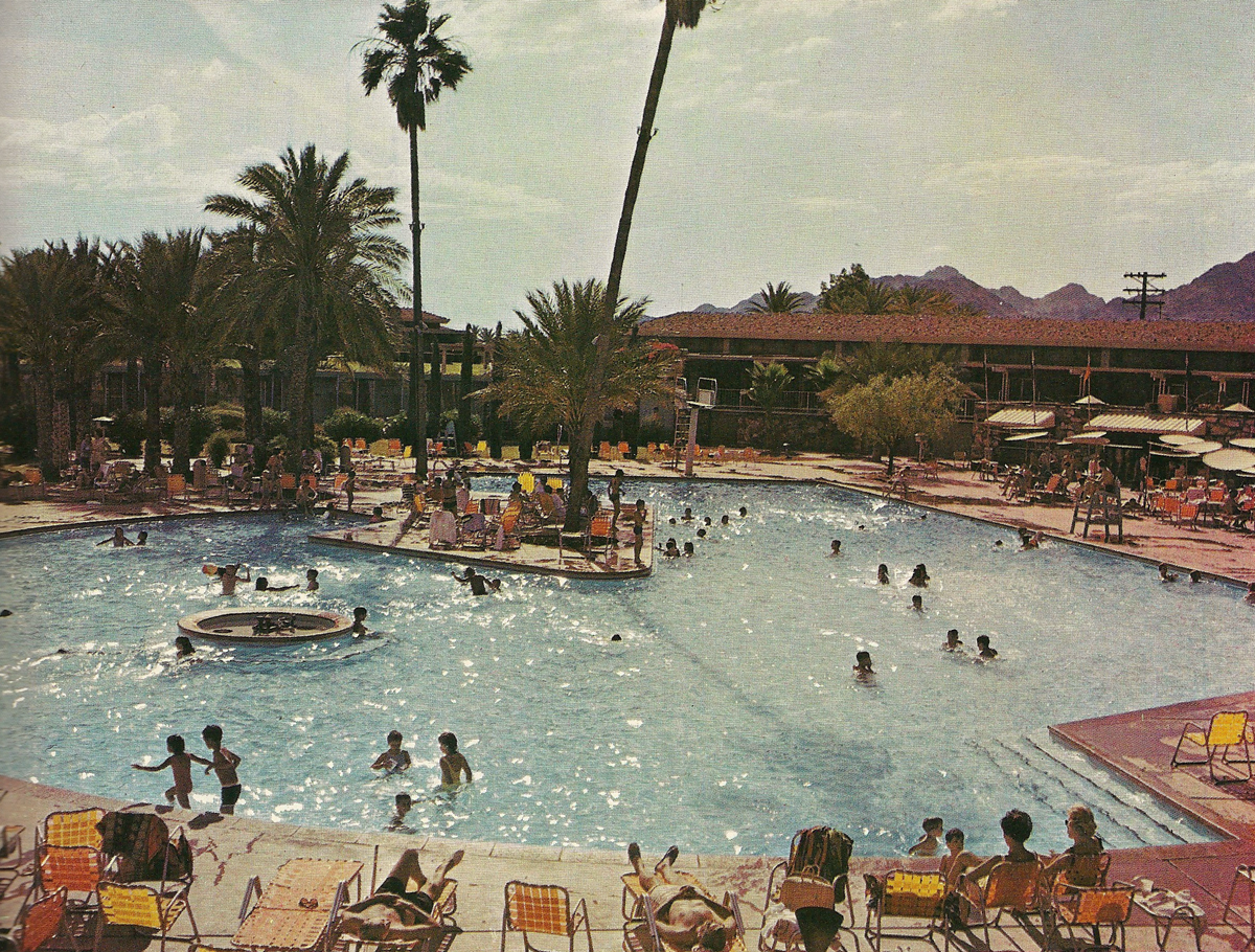 history adventuring: swimming at mountain shadows resort in the