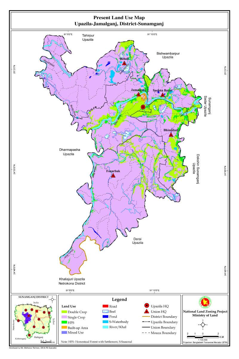 Jamalganj Upazila Mouza Map Sunamganj District Bangladesh