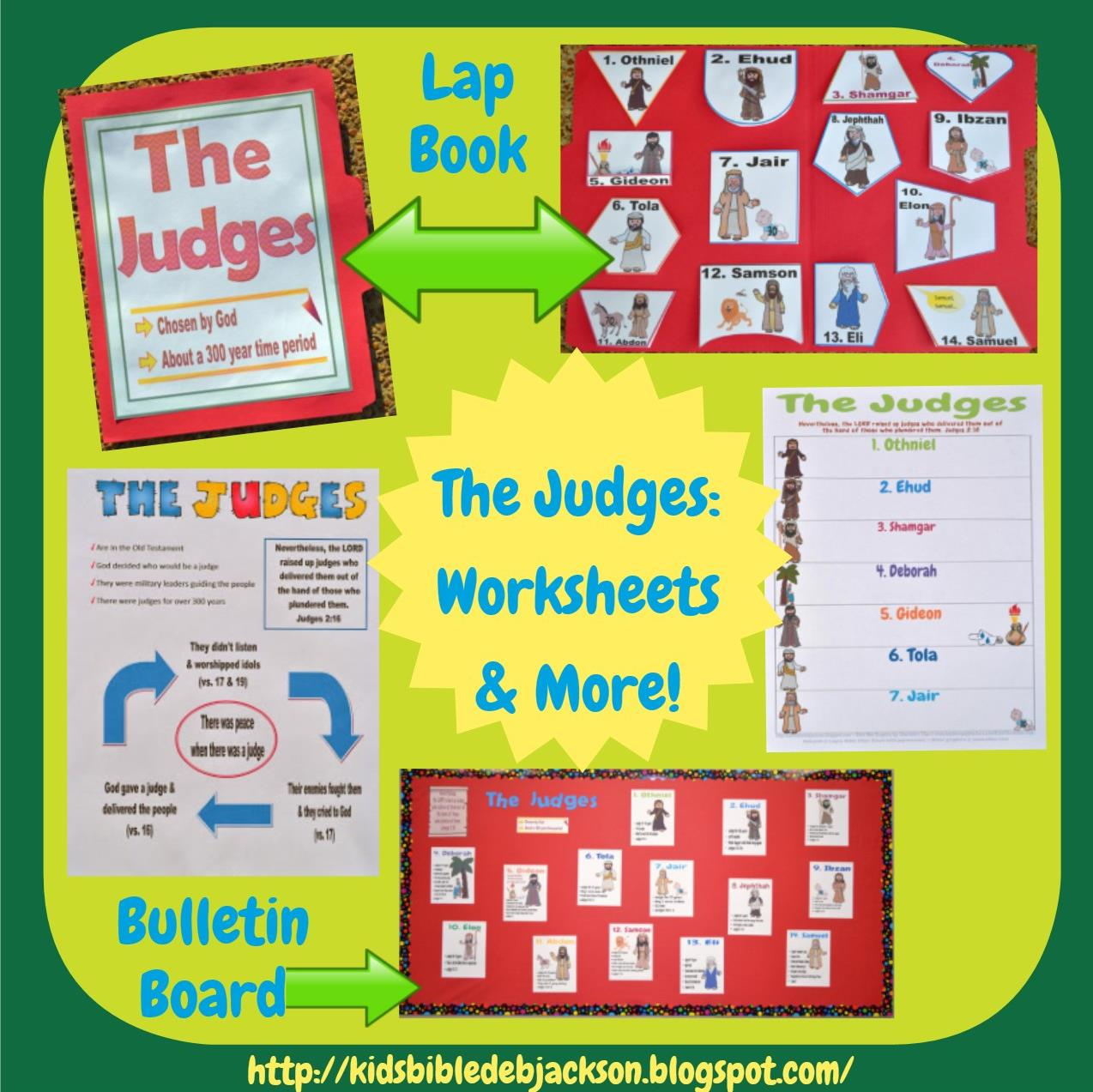 Bible Fun For Kids Judges Trading Cards