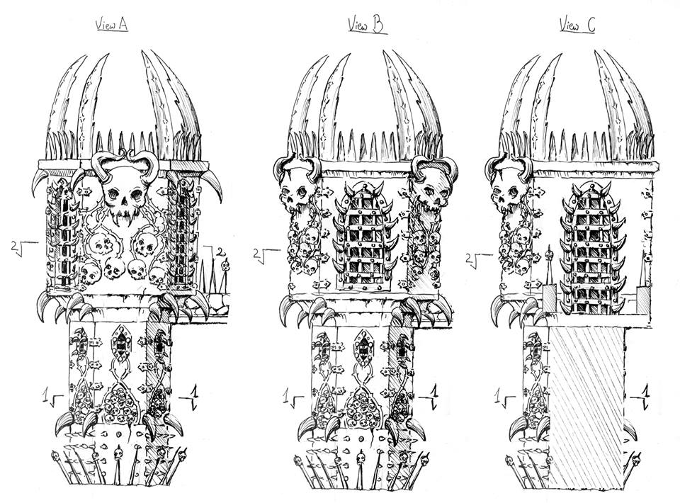 Tabletop Fix: Printable Scenery - Citadel Grim Skull Preview