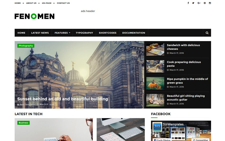 Fenomen Responsive Blogger Template