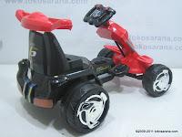 4 Mobil Mainan Aki PLIKO PK8218N GOKART dengan Kendali Jauh