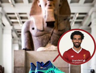 Mohammed Salah's shoe was displayed in the British Museum next to the antiquities of ancient Egypt