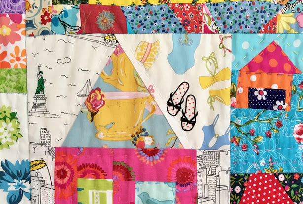 Happy Days in Daisy Town - A finished quilt.