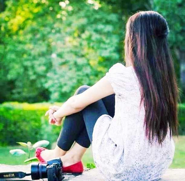 girl hidden face dp pic image