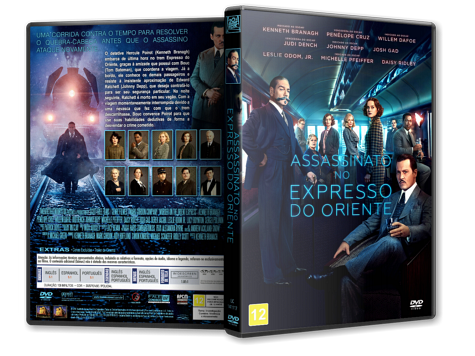 Capa DVD Assassinato no Expresso do Oriente [Custom]