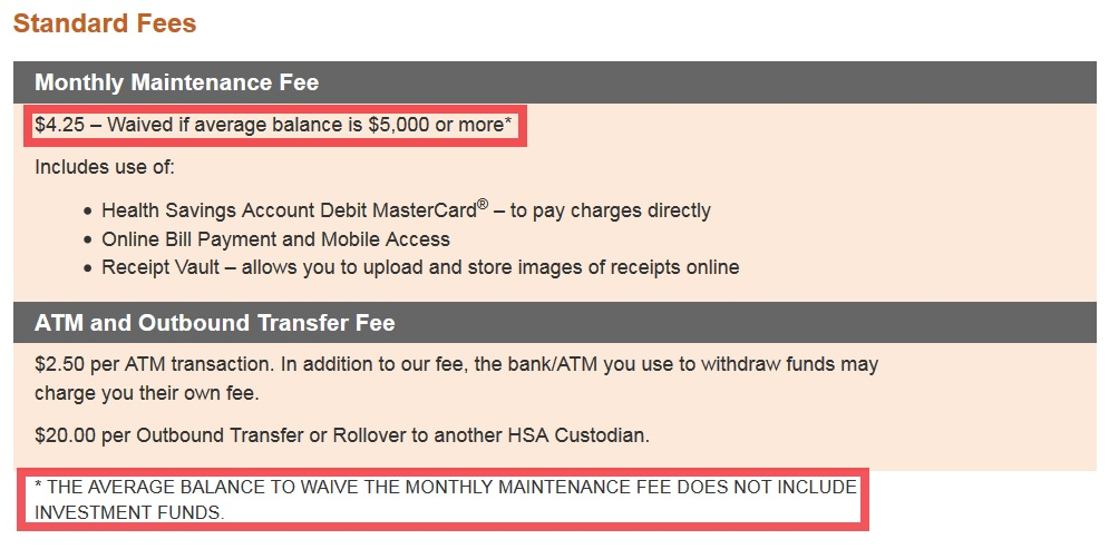 Balance To Waive The Monthly Maintenance Fee Does Not Include Investment Funds This Was Definitely Worse Than Wells Fargo So I Gave Optum A Call