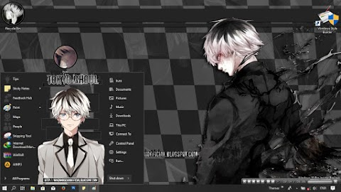 [ThemeWIN10] Tokyo Ghoul - Kaneki Ken / Haise Full Dark by kurohtenshi