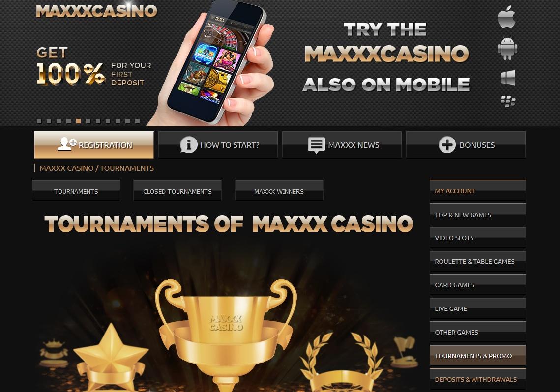 Maxxx Casino Screen