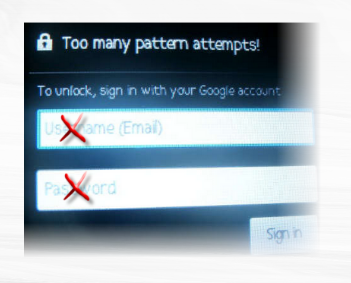 unlock pattern without google account