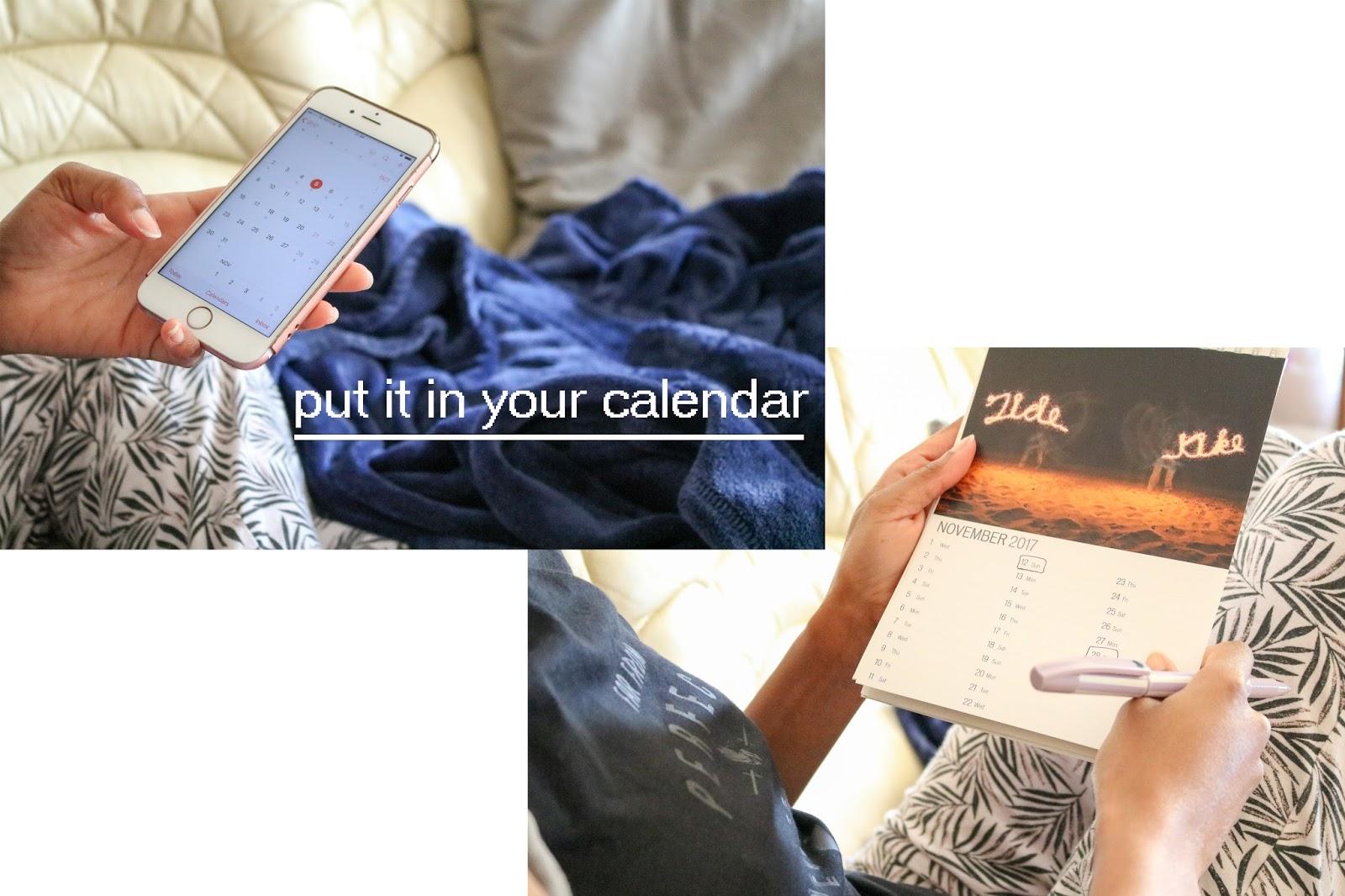 organisation, calendars