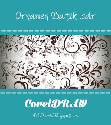 sebuah rangkaian rangkaian yang memperindah sebuah  Ornamen Batik untuk CorelDRAW