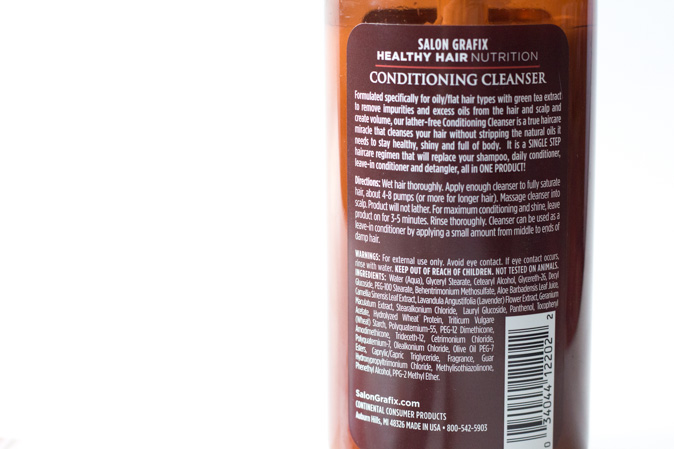 salon grafix healthy hair nutrition conditoning cleanser oily flat hair review