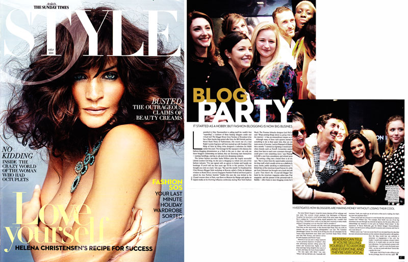 Sunday Times Style - 2011 - Blog Party