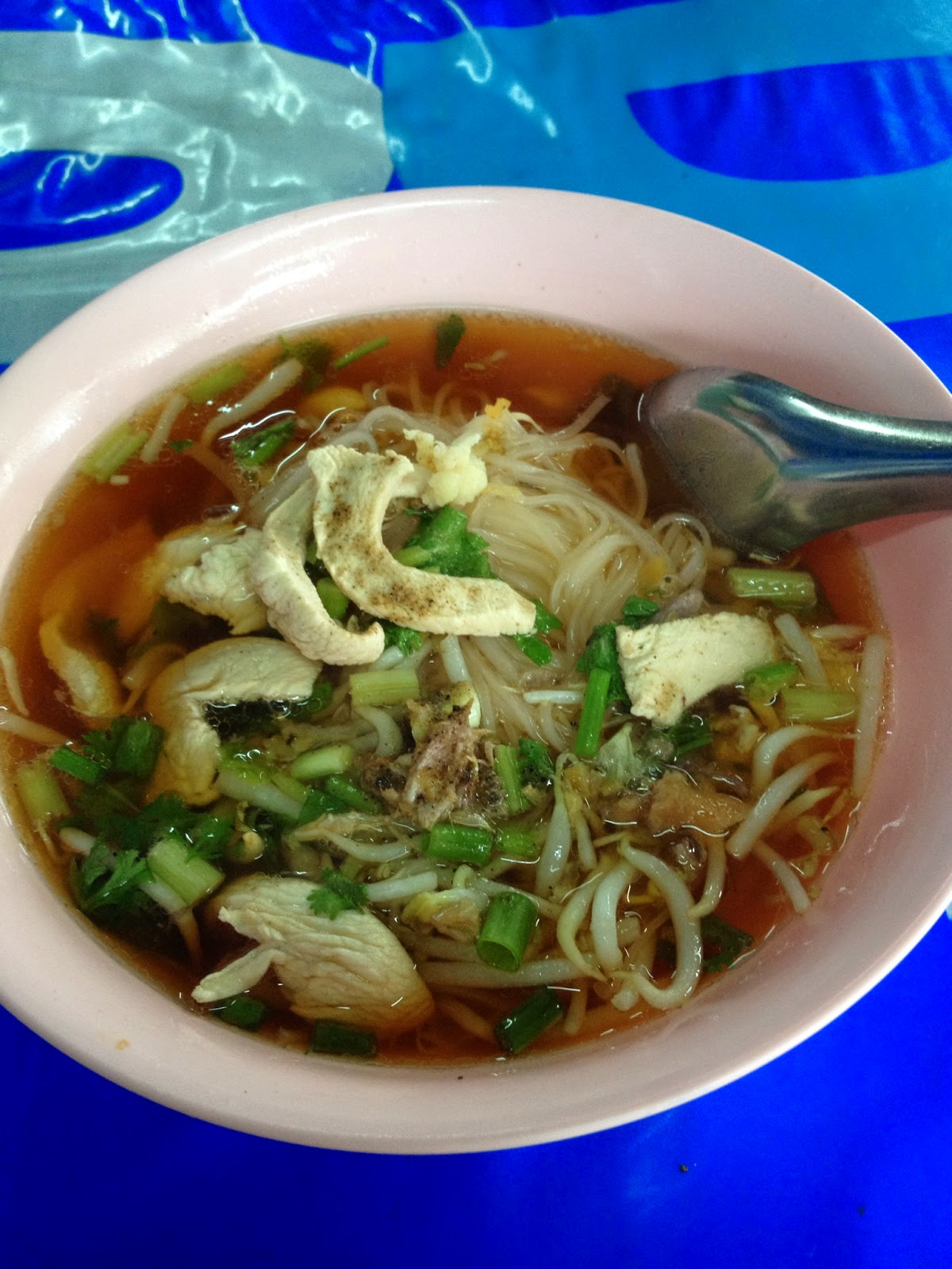 Chiang Mai - Chicken noodle soup. Nothing like hot soup on a hot day!
