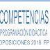 COMPETENCIAS PROGRAMACIÓN DIDACTICA OPOSICIÓN FP 2019 y 2020