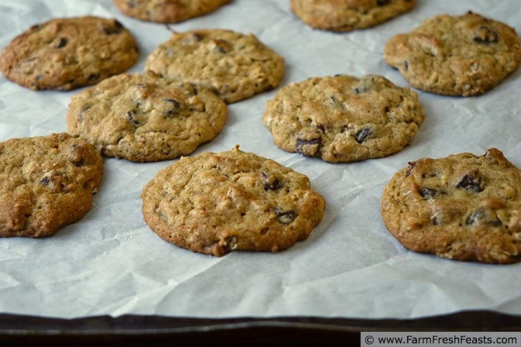 Orange Oatmeal Secret Ingredient Chocolate Chip Cookies | Farm Fresh Feasts