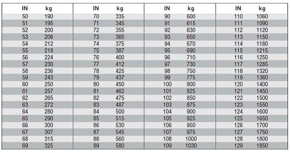 Indeksi nosivosti guma