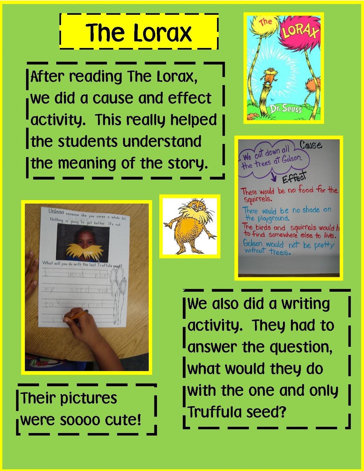 Golden Gang Kindergarten Dr Seuss The Lorax