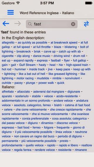 WordReference Dizionario Inglese si aggiorna alla vers 5.0.17