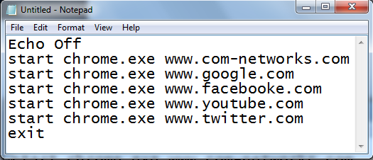 Open Multiple Website In Google Chrome