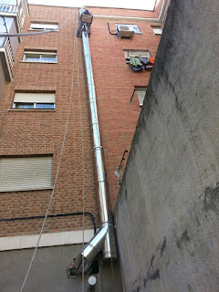 salida humos cocina por fachada