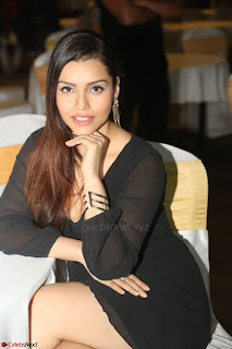 Kyra Dutta in black At Rogue Movie Audio Launch ~  087.JPG