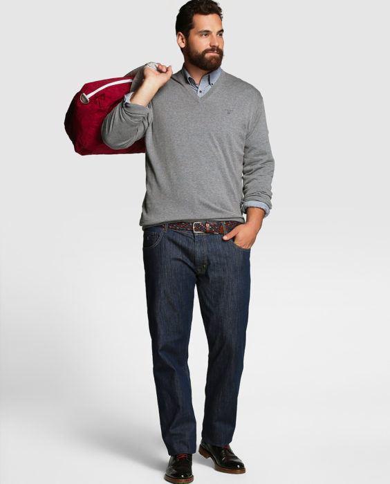 1fb4213b483 La Mejor Moda Para Hombres Gordos -Tallas Especiales : Moda Casual ...