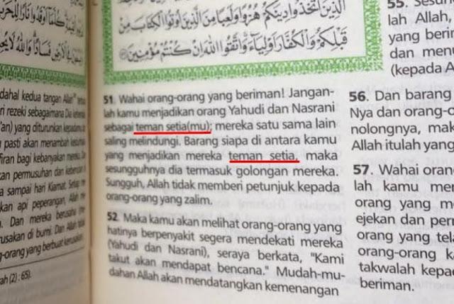 """Soal Al Maidah, MS Kaban Angkat Bicara: """"TEMAN SETIA AJA GAK BOLEH, APALAGI JADI PEMIMPIN! """""""