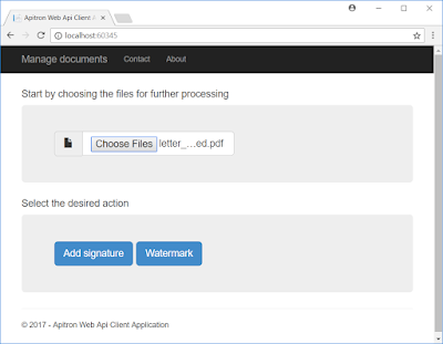 Pic. 2 Selecting source file and desired action
