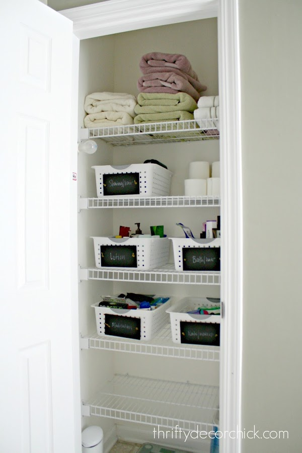 Tips for an organized linen closet