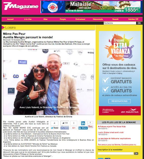 Le Festival MEME PAS PEUR dans 7 Magazine