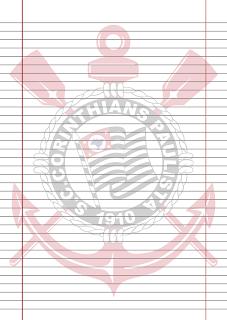 Papel Pautado do Corinthians para imprimir na folha A4