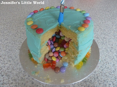 How to make a simple pinata birthday cake