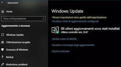 sospendere aggiornamenti windows 10