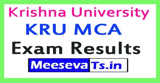 Krishna University KRU MCA Exam Results 2017