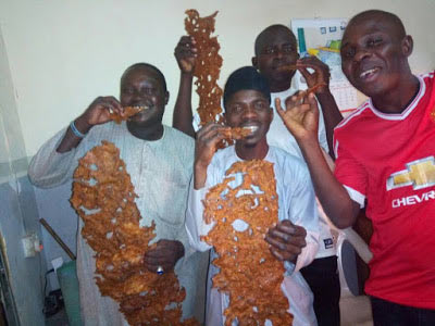 Die-hard Buhari supporter shares 200k suya to celebrate president's return