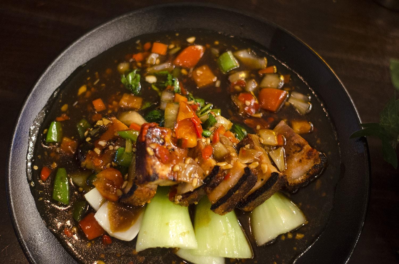 crispy pork belly stir fry chaophraya liverpool