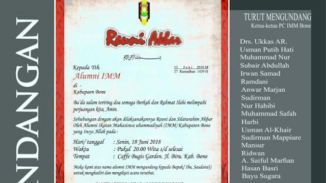 Jalin Silaturahmi, Besok, Kader dan Alumni IMM Bone Gelar Reuni Akbar