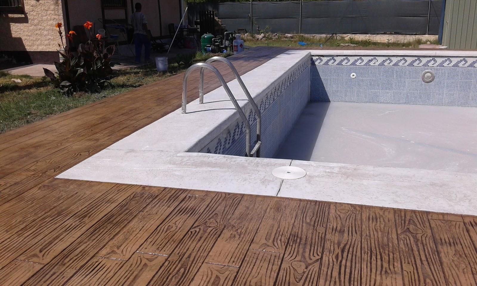 Pavimentos continuos de hormig n hormig n impreso - Coronacion de piscinas precios ...
