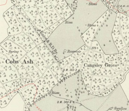 Section of the OS 6-inch Hertfordshire XL.NW map, revised: 1912 to 1913, published: 1920 Reproduced with the permission of the National Library of Scotland, released under Creative Commons