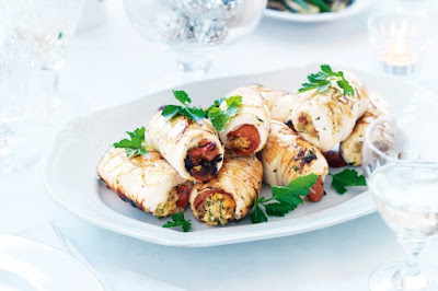 Stuffed chicken with chargrilled capsicum meal ideas