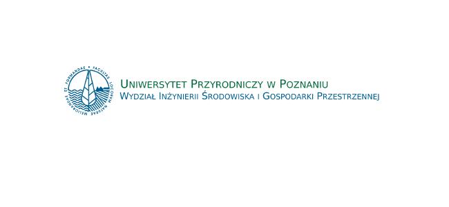 Logo Wydziału Inżynierii Środowiska i Gospodarki Przestrzennej Uniwersytetu Przyrodniczego w Poznaniu