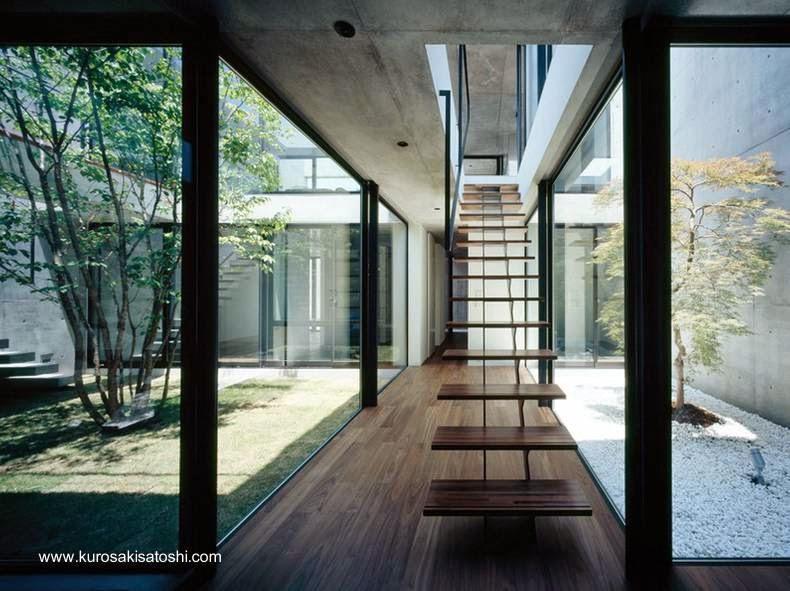 Arquitectura de casas casas modernas y contempor neas de - Escalera japonesa ...