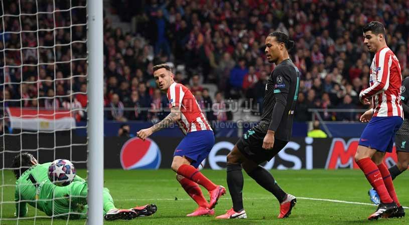 اتلتيكو مدريد يحقق انتصار مثير على ليفربول في ذهاب دور ال 16 من دوري أبطال أوروبا