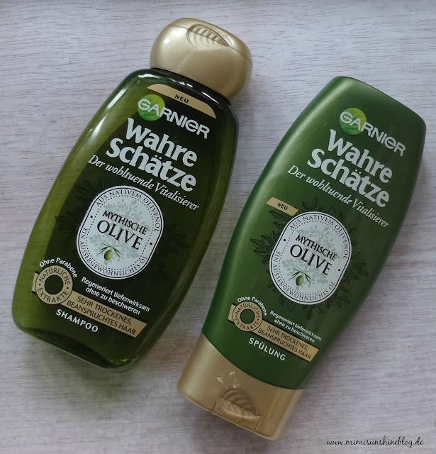 """Garnier Wahre Schätze Shampoo und Spülung """"Mythische Olive"""""""