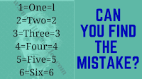 It is the picture puzzle in which your challenge is find the mistake in the given puzzle images