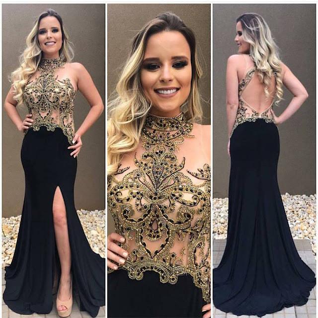 vestido de madrinha preto