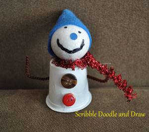 Christmas decorations made from recyled keurig pods