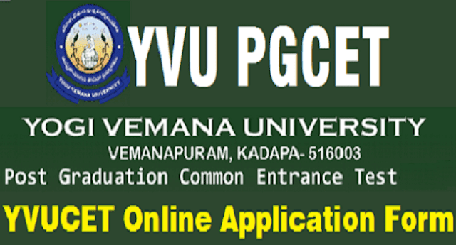 YVU PGCET notification 2020-2021, Yogi vemana university apply online